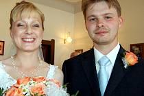 Jako poslední předstoupili v sobotu před místostarostu Rokycan Jaroslav Mráze ženich Miroslav Pátek a nevěsta Monika Brožíková.