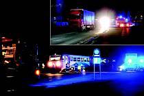 RUŠNO BYLO v pondělí před desátou hodinou večerní v Rokycanech u Kovohutí. Došlo zde ke střetu osobního vlaku a kamionu s návěsem. Řidič přehlédl blížící se lokálku a na přejezdu jí zkřížil cestu.