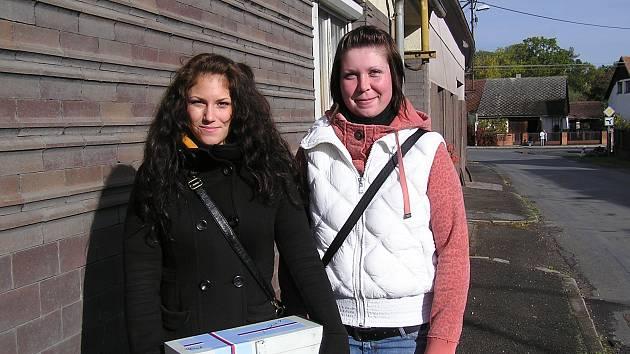 Štěpánka Sýkorová a Markéta Skalová v Mirošově.