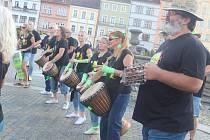 Buskers Fest České Budějovice.