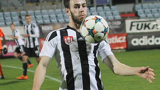 Budějovický fotbalista Roman Wermke.