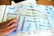 Plán ukazuje, jak by mělo vypadat multifuknčí centrum Družba na Pražské třídě v Českých Budějovicích.