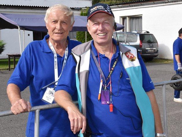 Václav Kudrle (vpravo) s Antonínem Babkou.