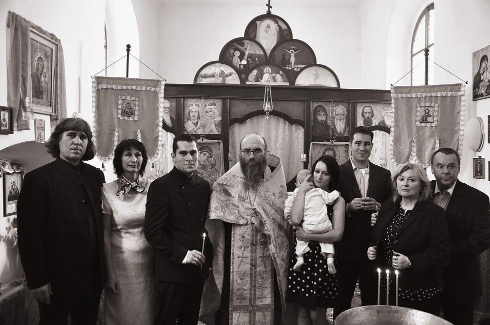 Křest vnuka Nicolase.