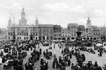 České Budějovice kolem roku 1925 z bakonu hotelu Zvon.