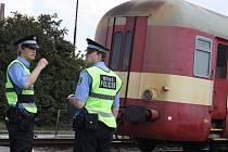 Nehoda na železniční trati. Ilustrační foto.