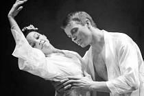 Choreografické ztvárnění inscenace  dokonale vyjadřuje intimní emotivní scény umocněné  výborným hudebním  podnětem . Na snímku Zdeněk Mládek a Barbora Zachová.