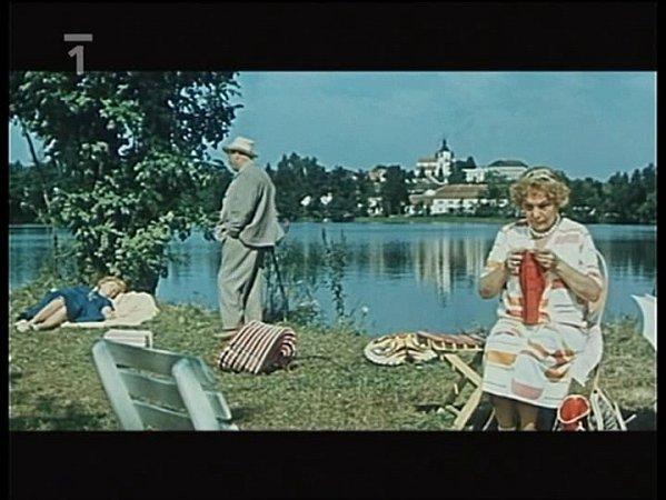 Záběr zfilmu Srpnová neděle, který se natáčel vChlumu uTřeboně.