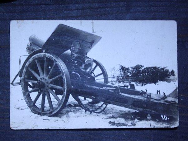 Na srbské a italské frontě sloužil Rudolf Ortmann jako dělostřelec isdělem, které zachycuje snímek.