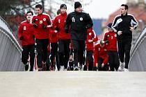 Fotbalisté Dynama absolvovali první letošní výběh v pátek do Stromovky, v pondělí odjeli na týdenní soustředění do Nového Města na Moravě.