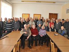 Účastníci výroční schůze Svazu PTP VTNP v Českých Budějovicích.