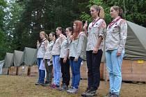Letní dobrodužství na táboře v červenci zažily i skautky z českobudějovického 2. oddílu Fénix