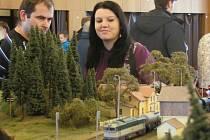 Modely mašinek a železnice si prohlédnete do soboty. Foto: František Krna