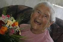 V Českých Budějovicích ve středu oslavila 100 let svého života Anežka Vopičková.