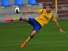 Martin Held klíčový zápas fotbalistů FC Písek na Admiře svým gólem rozhodl.