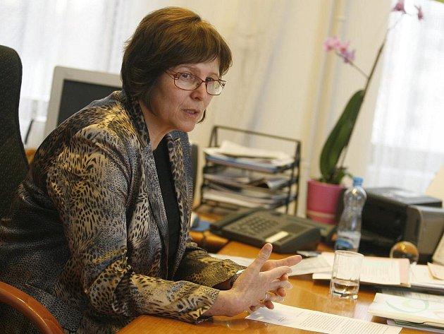 Děkanka PF JU Alena Hošpesová (na snímku) ukončila pracovní poměr s bývalým šéfem katedry společenských věd Miroslavem Sapíkem. Povtvrdilo se podezření, že v některých svých pracích opisoval.