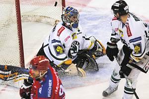 Hokejová extraliga pokračovala zápasem HC Mountfield - BK Mladá Boleslav.