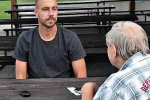 Zdeněk Křížek opět v akci: dlouholetý brankář fotbalistů prvoligového Dynama loni zanechal aktivní činnosti, v sobou ale zazářil v dresu futsalistů Dynama proti Vlkům Brno.