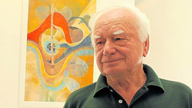 VÝTVARNÍK. Pavel Kotalík si i v osmdesáti letech užívá tvoření naplno.