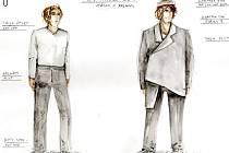 První čtenou zkoušku Sofoklova Oidipa mají za sebou herci Jihočeského divadla. Na snímku návrh kostýmu pro Jana Huška.