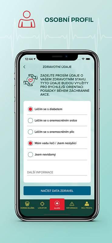 S rozšířením modulu a spuštěním nové funkcionality Elektronická kniha túr dostala aplikace Záchranka také s nový vzhled obrazovky.