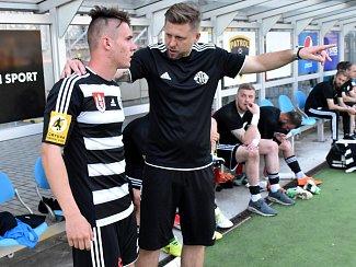 Martin Šplíchal patřil v devatenáctce Dynama k oporám. Na snímku je s trenérem druholigového áčka Davidem Horejšem.