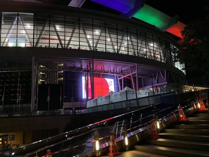 František Kuna se pohybuje v Tokiu po sportovištích