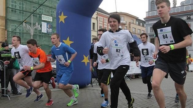 Juniorský maraton v Českých Budějovicích.