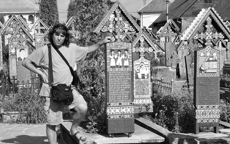 Veselý hřbitov, Sapanta, Rumunsko.