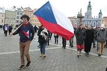 Shromáždění na českobudějovickém náměstí