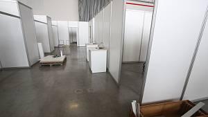 Očkovací centrum v pavilonu T na českobudějovickém Výstavišti
