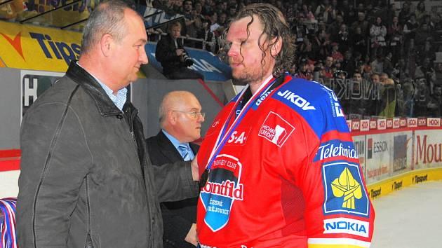 Zdeněk Blažek (vlevo) a Roman Turek se postavili do čela mládežnického hokeje v Českých Budějovicích.