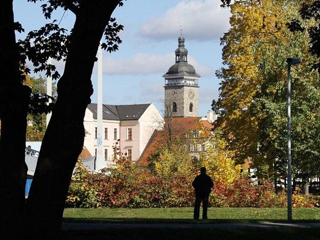 Podzim v Českých Budějovicích.