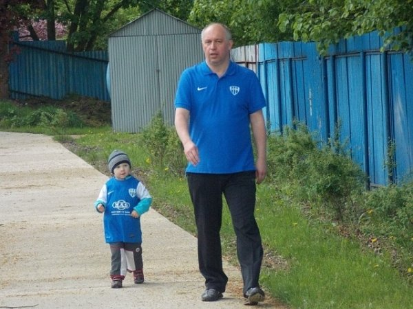 Jiří Smrž často chodí na fotbalové zápasy se synem Adámkem.