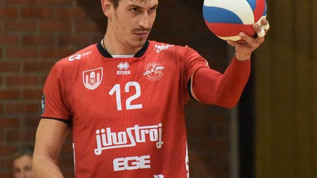 Valerij Todua byl v utkání v Ústí nad Labem v prvním setu hodně vidět.