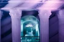 Ledová jeskyně na Dachsteinu.