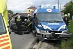 V květnu 2010 se ve Starých Hodějovicích na silnici vedoucí na Vidov střetlo osobní automobil se sanitkou. Zasahující hasiči pomohli s transportem převážené pacientky do jiného sanitního vozu.
