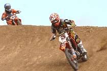 Talentovaný Václav Kovář bývá pravidelným účastníkem krajského přeboru motokrosařů.