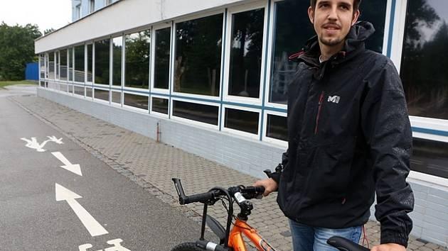 Cyklokoordinátor Českých Budějovic Lukáš Bajt.