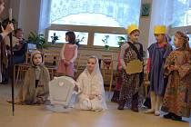 Vánoční besídka v Domově s pečovatelskou službou v Nerudově ulici v Českých Budějovicích.