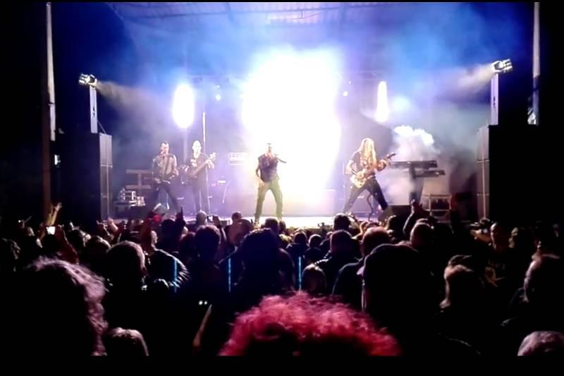 Koncert kapely Ortel v Rájci.