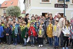 VÝROČÍ. Českobudějovičtí skauti oslavili 100 let skautingu v krajském městě. Na Piaristickém náměstí připravili odpoledne s vystoupeními, vyprávěními a ukázkou skautských dovedností.