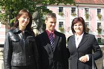 Tým policejních psychologů. Regina Chalupová, Miroslav Macho a asistentka Marie Molnárová (zleva).