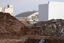 Výstavba mrazíren u obce Homole u Českých Budějovic