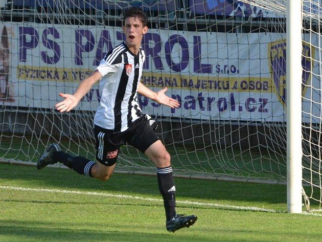 Lukáš havel dal v zápase Dynama s Vlašimí svůj premiérový druholigový gól.
