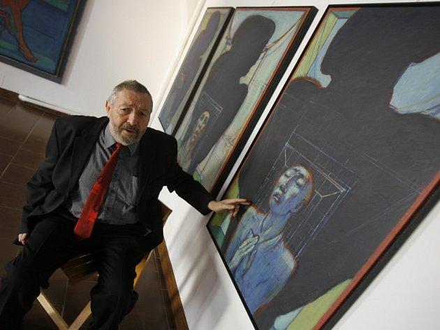 Antonín Málek připravuje pro návštěvníky galerie na 25. 10. komentovanou prohlídku celé expozice.