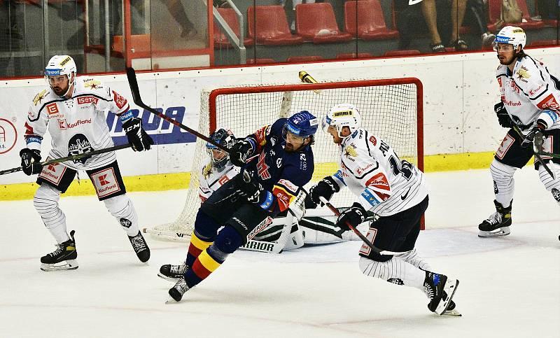 Hokejová Tipsport extraliga Motor ČB - Kladno, v dresu hostí nastoupil i Jaromír Jágr.