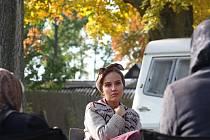 Jan Svěrák natáčel 16. října ve Slavonicích film Po strništi bos, premiéra bude v srpnu 2017. Na snímku Tereza Voříšková, která ztvární maminku.