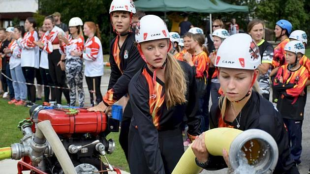Mladí hasiči se utkali v Olešníku.