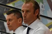 Václav Prospal (vpředu) se svým asistentem Alešem Totterem.